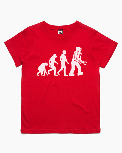 Theory of Evolution Robot Sheldon Kids T-Shirt Australia Online