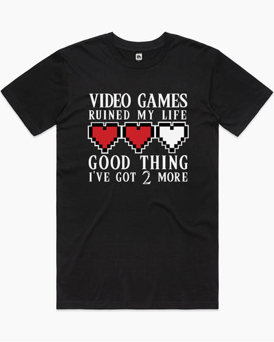 Video Games Ruined My Life T-Shirt Australia Online