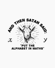 Satan Puts the Alphabet in Maths Long Sleeve Australia Online
