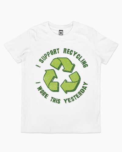 I Support Recycling Kids T-Shirt Australia Online