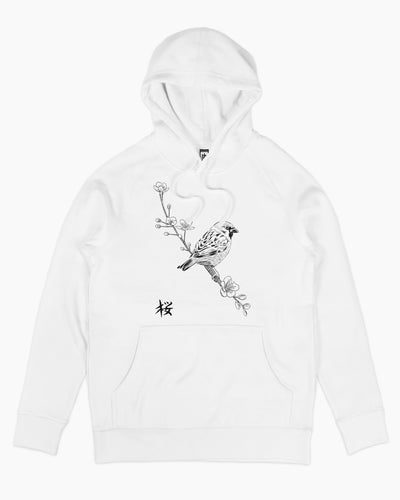 Sparrow on Cherry Hoodie Australia Online