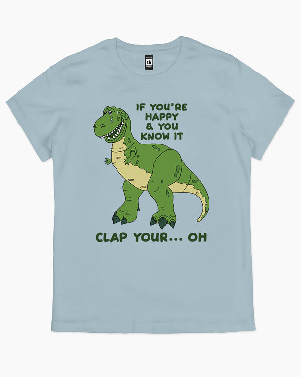 Clap Your Hands Dinosaur T-Shirt Australia Online