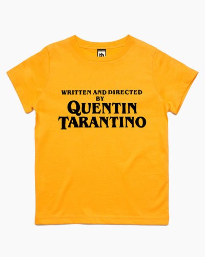 Written and Directed by Quentin Tarantino Kids T-Shirt Australia Online