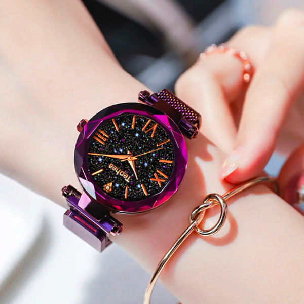 Montre femme pourpre Galaxya