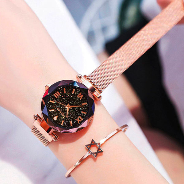 Montre femme or galaxya