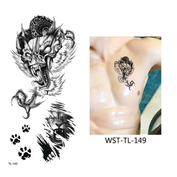 TATOUAGE EPHEMERE ANIMAL SAUVAGE