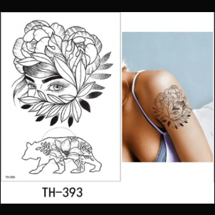 Tatouage éphémère Waterproof Dessin au trait
