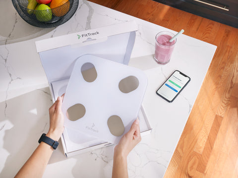 smart scale smartwatch smoothie healthy