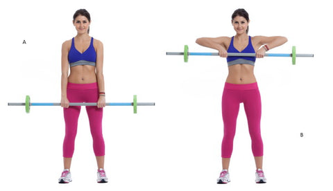 barbell upright row demonstration