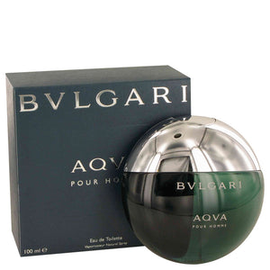 AQUA POUR HOMME by Bvlgari Eau De Toilette Spray 3.3 oz for Men