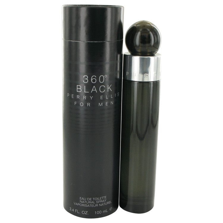 Perry Ellis 360 Black by Perry Ellis Eau De Toilette Spray 3.4 oz for Men