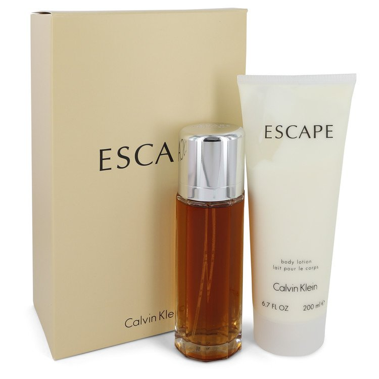 ESCAPE by Calvin Klein Gift Set -- 3.4 oz Eau De Parfum Spray + 6.7 oz Body Lotion for Women