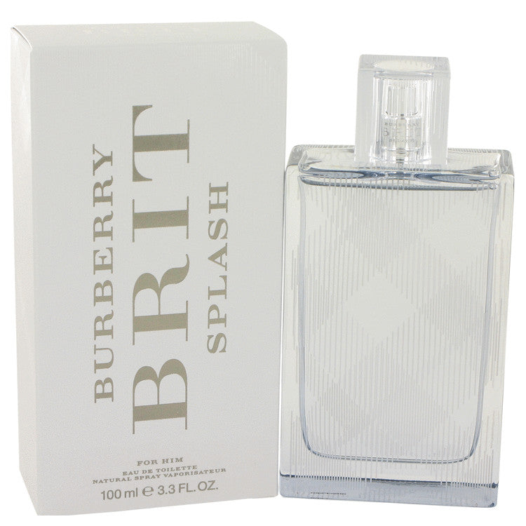 Burberry Brit Splash by Burberry Eau De Toilette Spray 3.4 oz for Men