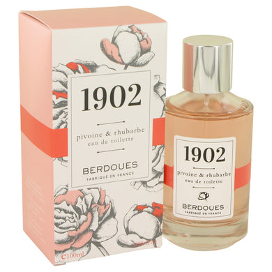 1902 Pivoine & Rhubarbe by Berdoues Eau De Toilette Spray 3.38 oz for Women