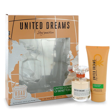 United Dreams Stay Positive by Benetton Gift Set -- for Women