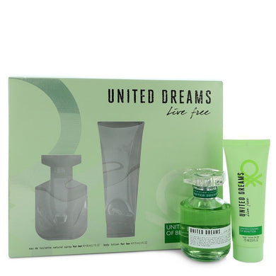 United Dreams Live Free by Benetton Gift Set -- for Women