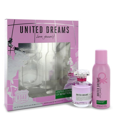 United Dreams Love Yourself by Benetton Gift Set -- for Women
