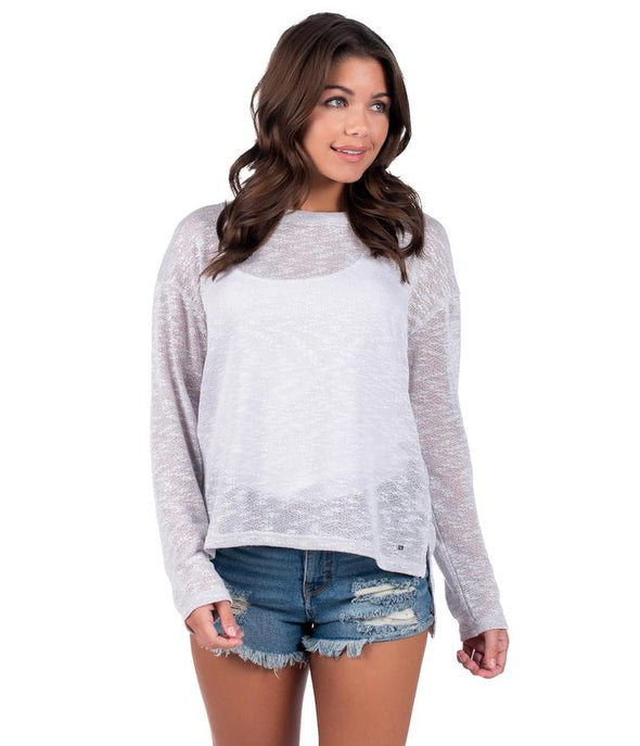 SOUTHERN SHIRT COMPANY  RIVIERA L/S CROP TOP