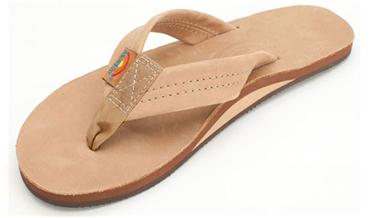 RAINBOW SINGLE LAYER WIDE STRAP FLIP FLOPS