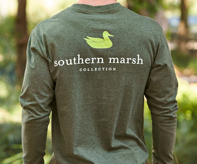 SOUTHERN MARSH AUTHENTIC TEE L/S HEATHER