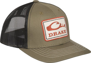 DRAKE WATERFOWL SQUARE PATCH MESH CAP