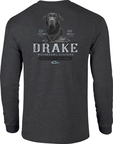DRAKE WATERFOWL BLACK LAB L/S TEE