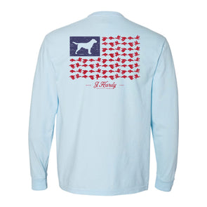 DOG AND DUCK FLAG L/S TEE