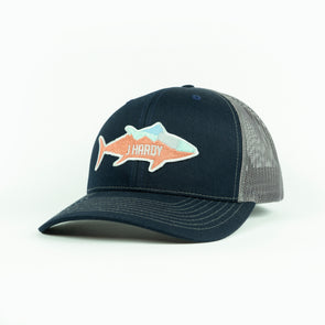J HARDY FISH PATCH HAT
