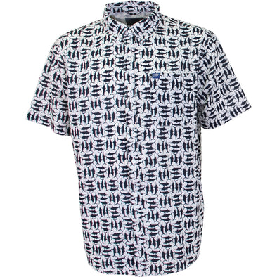 AFTCO CAPTAINS LOUNGE S/S TECH SHIRT