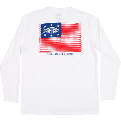 AFTCO GAFF FLAG L/S TEE