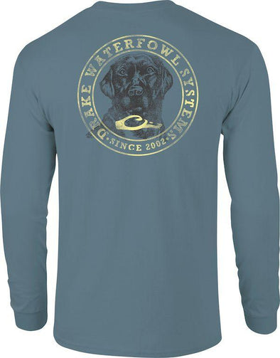DRAKE WATERFOWL CIRCLE LAB T L/S TEE