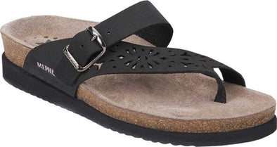 MEPHISTO HELEN PERFORATED THONG SANDAL