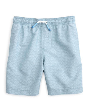 SOUTHERN TIDE FISH DOT PRINTED SWIM TRUNK