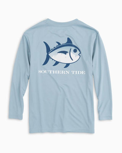 SOUTHERN TIDE SKIPJACK GREAT WHITE PERF L/S TEE