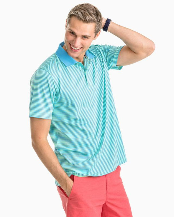 SOUTHERN TIDE  FORT FREDERIK STRIPE S/S POLO