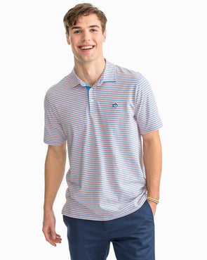 SOUTHERN TIDE STRIPED CHANNEL MARKER S/S POLO