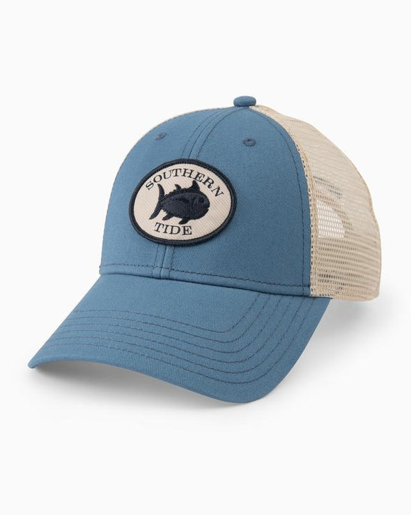 SOUTHERN TIDE OVAL EMBROIDERED PATCH TRUCKER HAT