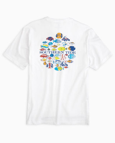 SOUTHERN TIDE SCHOOL OF FISH CIRCLE S/S TEE