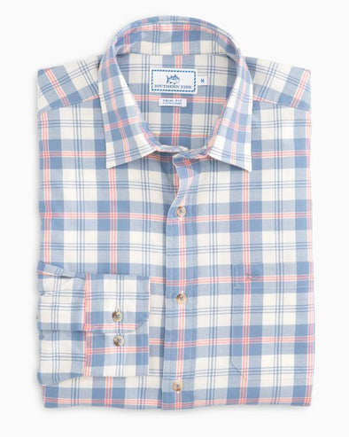 SOUTHERN TIDE OAK HARBOR PLAID L/S SPORT SHIRT
