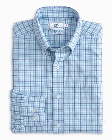 SOUTHERN TIDE STAYCATION PLAID L/S SHIRT
