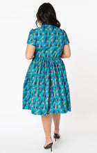 Load image into Gallery viewer, Universal Monsters x Unique Vintage Frankenstein Print Cora Swing Dress