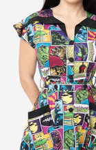 Load image into Gallery viewer, Universal Monsters x Unique Vintage Monsterror Print Hedda Swing Dress