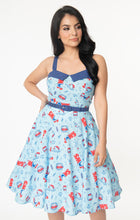 Load image into Gallery viewer, Jaws x Unique Vintage Jaws Print Rachel Swing Dress