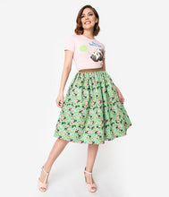 Load image into Gallery viewer, Little Golden Books x Unique Vintage Shy Little Kitten Swing Skirt
