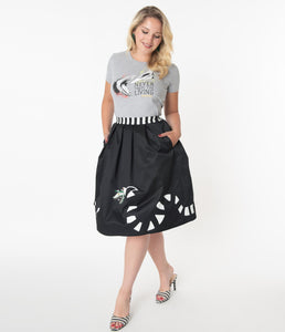 Beetlejuice x Unique Vintage Sandworm Jayne Swing Skirt