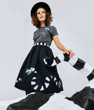 Load image into Gallery viewer, Beetlejuice x Unique Vintage Sandworm Jayne Swing Skirt
