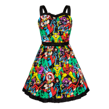 Load image into Gallery viewer, Marvel Sweetheart Neckline Dress