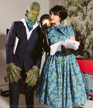 Load image into Gallery viewer, Universal Monsters X Unique Vintage Creature From The Black Lagoon Swing Dress
