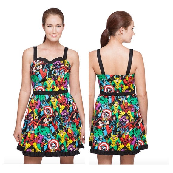 Marvel Sweetheart Neckline Dress
