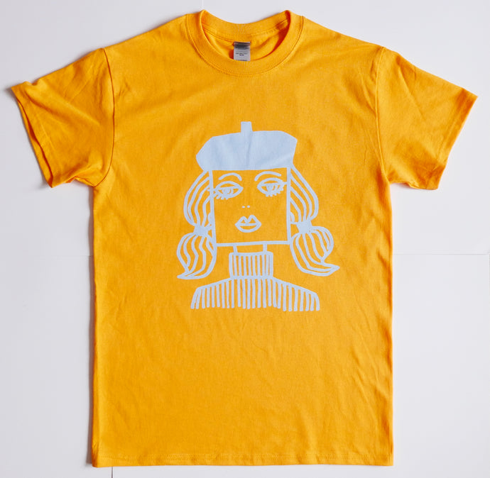 Beatnik, gold short sleeve T Shirt size MEDIUM